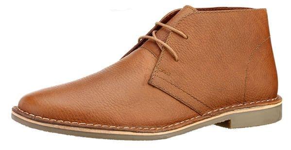 Red Tape Gobi Milled Leather Honey Desert Boots